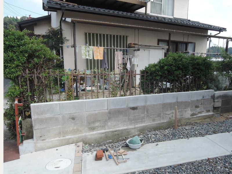 ブロック塀外壁塗装DIYその1