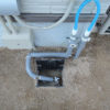 裏庭散水用水道配管工事